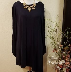 Premise Long Sleeves Open Slits Arms Tunic Large